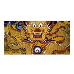 Chinese Dragon Pattern Satin Wrap