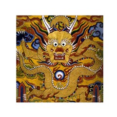 Chinese Dragon Pattern Small Satin Scarf (square)