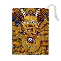 Chinese Dragon Pattern Drawstring Pouches (Extra Large)
