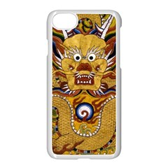 Chinese Dragon Pattern Apple Iphone 7 Seamless Case (white)