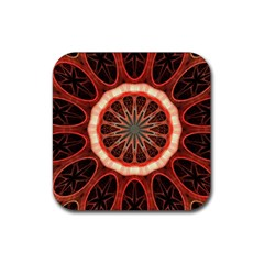 Circle Pattern Rubber Square Coaster (4 pack)