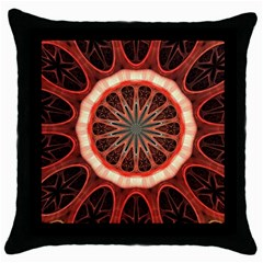Circle Pattern Throw Pillow Case (black)