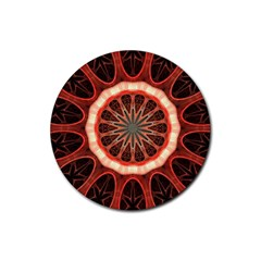 Circle Pattern Rubber Round Coaster (4 Pack)