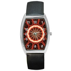 Circle Pattern Barrel Style Metal Watch