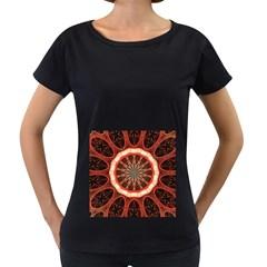 Circle Pattern Women s Loose Fit T Shirt (black)