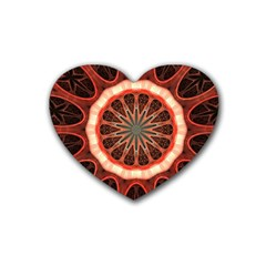 Circle Pattern Rubber Coaster (heart)
