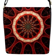 Circle Pattern Flap Messenger Bag (s)