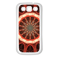 Circle Pattern Samsung Galaxy S3 Back Case (white)
