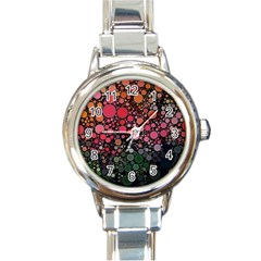 Circle Abstract Round Italian Charm Watch