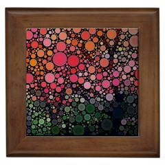 Circle Abstract Framed Tiles