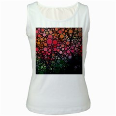 Circle Abstract Women s White Tank Top
