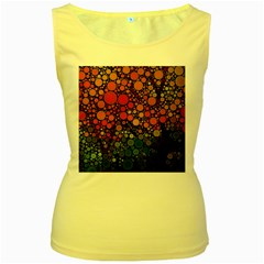 Circle Abstract Women s Yellow Tank Top