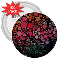 Circle Abstract 3  Buttons (100 pack)