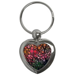 Circle Abstract Key Chains (heart)