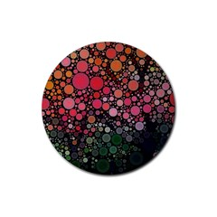 Circle Abstract Rubber Round Coaster (4 Pack)