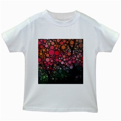 Circle Abstract Kids White T-Shirts