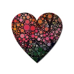 Circle Abstract Heart Magnet