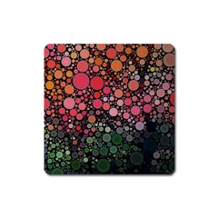 Circle Abstract Square Magnet