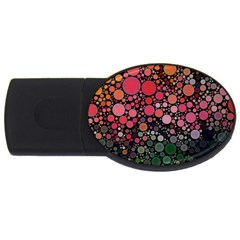 Circle Abstract USB Flash Drive Oval (1 GB)