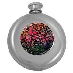 Circle Abstract Round Hip Flask (5 Oz)