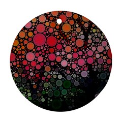 Circle Abstract Round Ornament (two Sides)