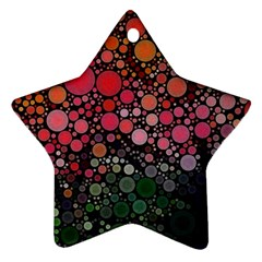 Circle Abstract Star Ornament (two Sides)