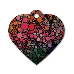 Circle Abstract Dog Tag Heart (One Side)