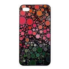 Circle Abstract Apple Iphone 4/4s Seamless Case (black)