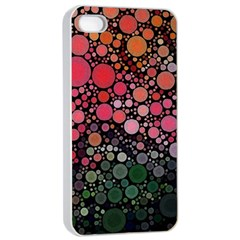 Circle Abstract Apple Iphone 4/4s Seamless Case (white)