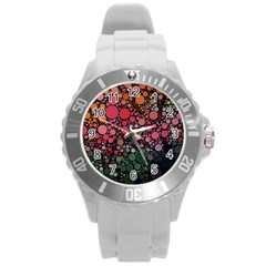 Circle Abstract Round Plastic Sport Watch (l)