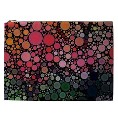 Circle Abstract Cosmetic Bag (xxl)
