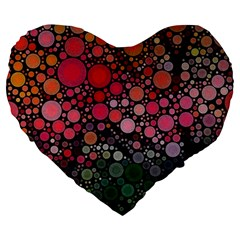 Circle Abstract Large 19  Premium Heart Shape Cushions