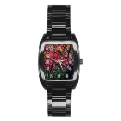 Circle Abstract Stainless Steel Barrel Watch