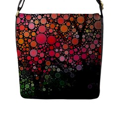 Circle Abstract Flap Messenger Bag (l)