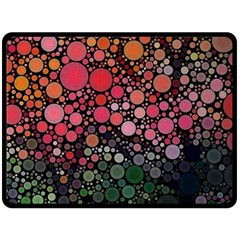Circle Abstract Double Sided Fleece Blanket (large)