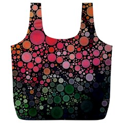 Circle Abstract Full Print Recycle Bags (l)