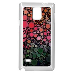 Circle Abstract Samsung Galaxy Note 4 Case (white)