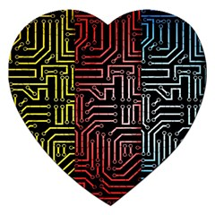 Circuit Board Seamless Patterns Set Jigsaw Puzzle (heart)