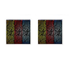 Circuit Board Seamless Patterns Set Cufflinks (square)