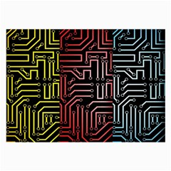 Circuit Board Seamless Patterns Set Large Glasses Cloth (2 Side)