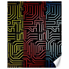Circuit Board Seamless Patterns Set Canvas 11  x 14