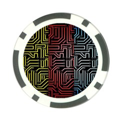 Circuit Board Seamless Patterns Set Poker Chip Card Guard
