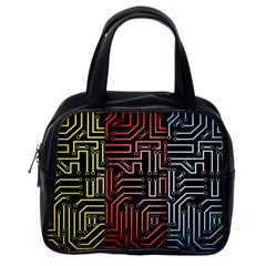Circuit Board Seamless Patterns Set Classic Handbags (one Side)
