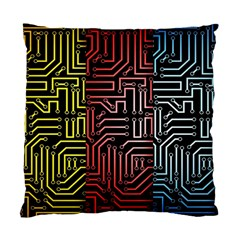 Circuit Board Seamless Patterns Set Standard Cushion Case (two Sides)