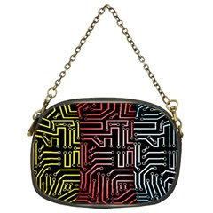 Circuit Board Seamless Patterns Set Chain Purses (two Sides)