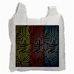 Circuit Board Seamless Patterns Set Recycle Bag (One Side)
