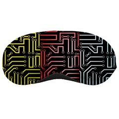 Circuit Board Seamless Patterns Set Sleeping Masks
