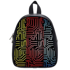 Circuit Board Seamless Patterns Set School Bags (small)