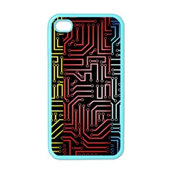 Circuit Board Seamless Patterns Set Apple Iphone 4 Case (color)