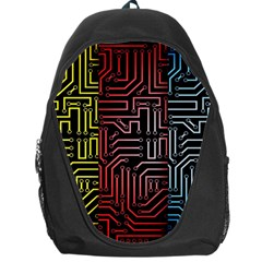 Circuit Board Seamless Patterns Set Backpack Bag